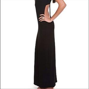 Kirra black cut-out Maxi Dress